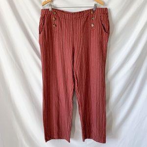 Maurices High Rise Wide Leg Linen Sailor Pants XXL